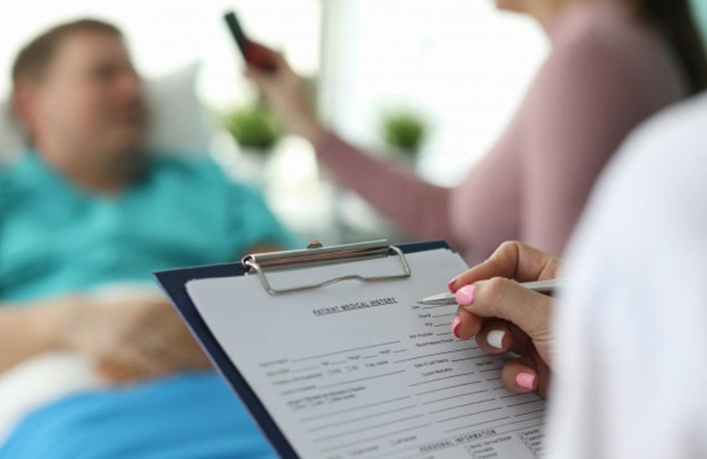 importância de preencher o formulário do paciente